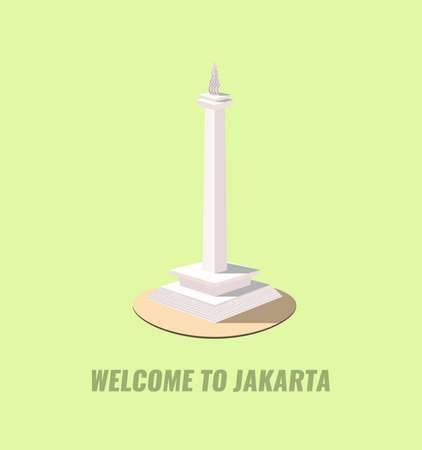 national monuments: monas is one of biggest landmarks in jakarta indonesia
