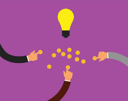 initiator: crowdfunding or collecting money from people to support a great ideas
