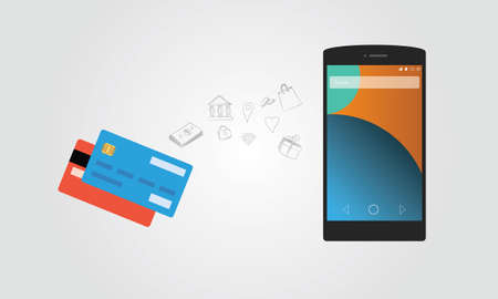 using smartphone: mobile payment using smartphone and credit card account