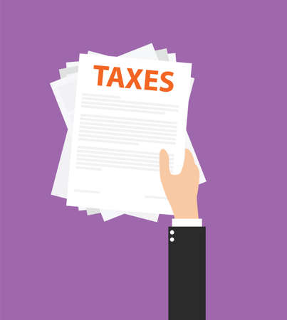 세금을 지불하고 모든 세금 문서를 관리 일러스트
