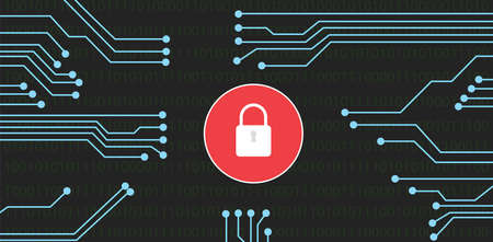 Website security with lock Illustration