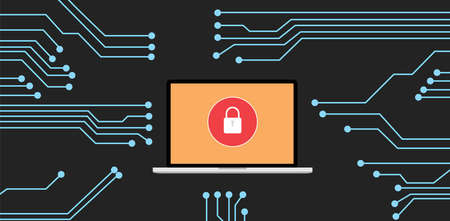 website background: Website security with notebook