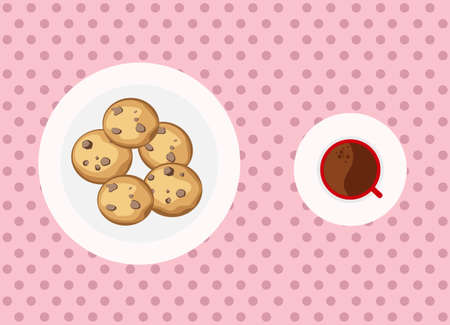 companion: Chocolate chip cookies is the best companion to eat together Illustration