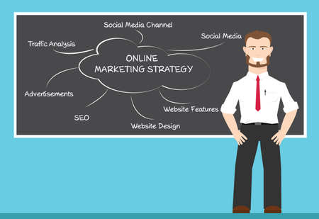 emarketing: A man present about online marketing strategy concepts