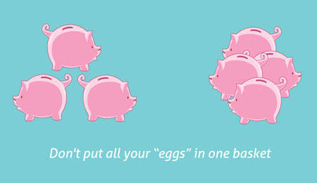 collectors: Investment quotes dont put your egg in one basket Illustration
