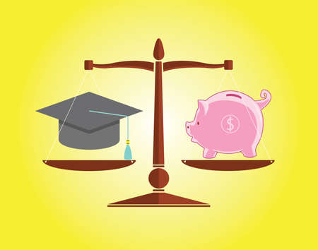 piggybank: Education and money with piggybank and hat