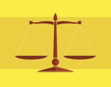 lawless: Scale flat illustration Illustration