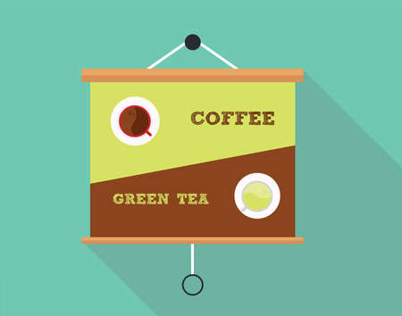 Compare between coffee and green tea