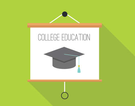 successful student: College education with presentation board