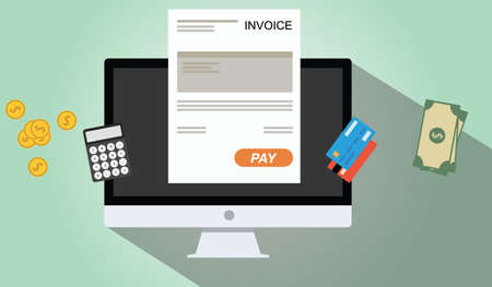 online invoices payment pc dekstop calculator money credit card coin