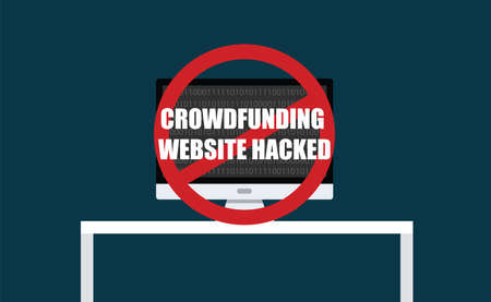 hacked: crowdfunding website hacked phissing steal computer virus