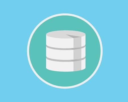 harddisk: database flat data server save concept flat vector