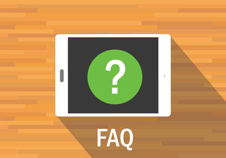 frequently asked question: faq frequently asked question tab mobile flat vector