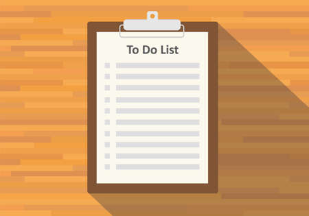 to do list: clipboard to do list paper flat vector long shadow