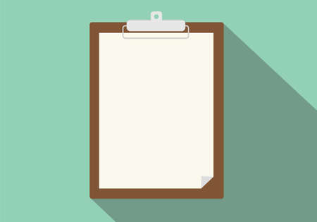 clipboard isolated: clipboard isolated vector long shadow flat green background