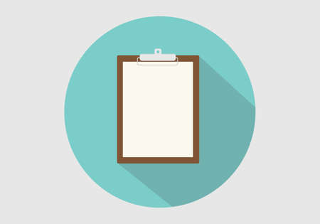 clipboard isolated: clipboard isolated vector long shadow circle flat