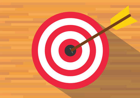 goals target board bullseye red vector flat