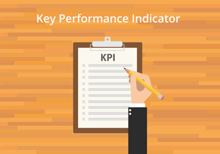 checklist: kpi key performance indicator checklist clipboard flat