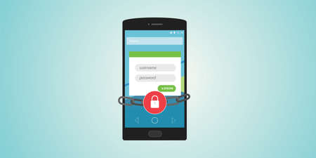 authentication: mobile authentication username and password locked and chain