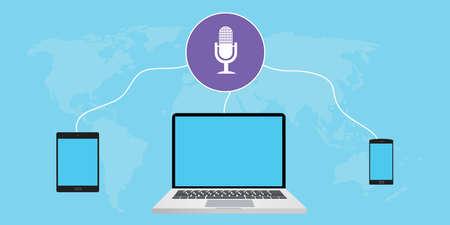 listening podcast use cross-platform, computer, tab, and smarthphone