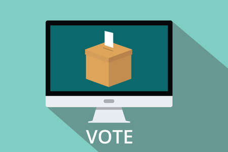 online form: give an online vote box vector computer