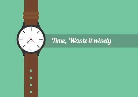 time quotes to use your time wisely watch wristwatch  イラスト・ベクター素材