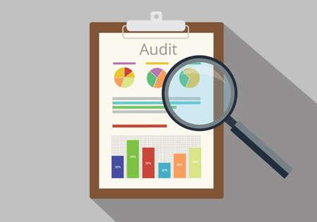 documento de auditoría de datos del gráfico análisis de resultados de papel resultado del informe financiero finanzas