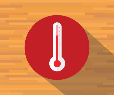 low scale: thermometer vector isolated flat shadow symbol warm