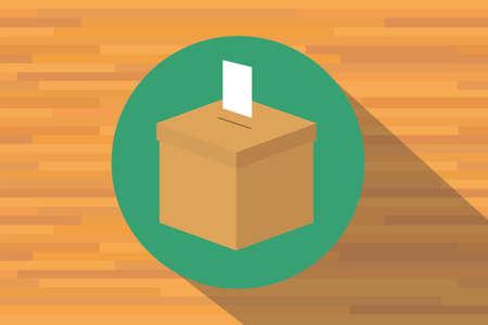 encuestando: Caja Voto de la elección de votación símbolo del icono del vector Vectores