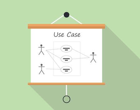 uml Unified Modeling Language use case diagram vector Stock Illustratie