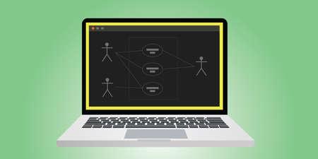 통합 모델링 언어 유스 케이스 다이어그램 벡터를 UML