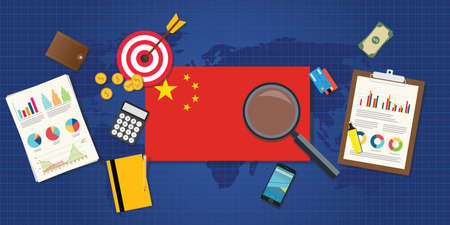 china town: china economy economic rising with good chart and graph and good target