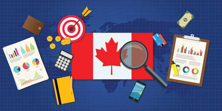 canada economy economic rising with good chart and graph and good target