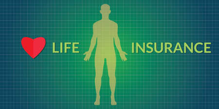 insurance concepts: life insurance concepts with human silhouette