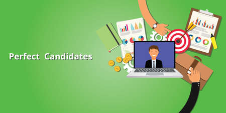 candidate: perfect and best employee or candidate vector