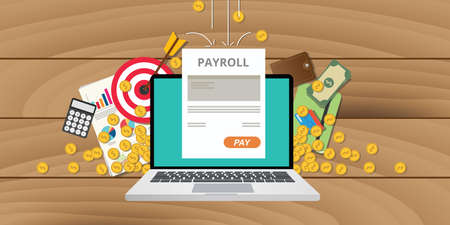 payroll wages money salary calculator accounting icon Vettoriali