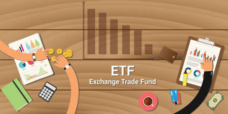 etf exchange trade fund graph growth team table