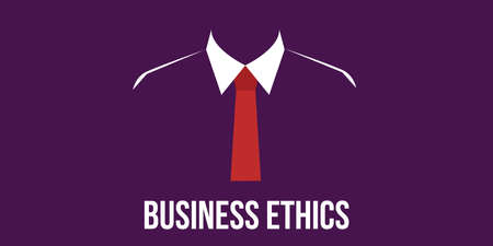 business ethics: business ethics concept man in suit