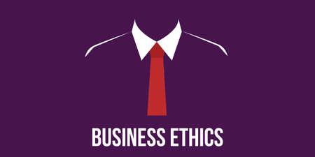 ethics: business ethics concept man in suit