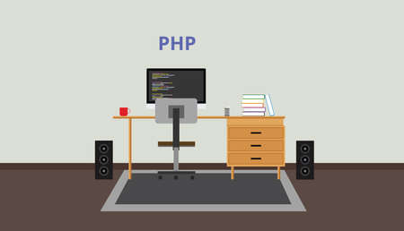 the programmer: php programmer developer workspace pc computer technology