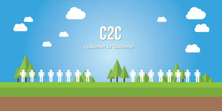 acronyms: c2c customer to consumer with people head to head vector