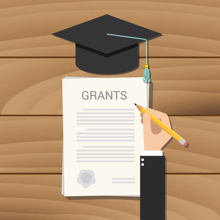 grant scholarship concept clipboard document college vector