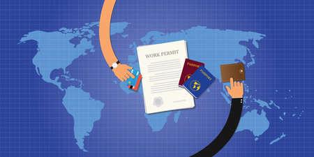 permit: work permit application document passport id card
