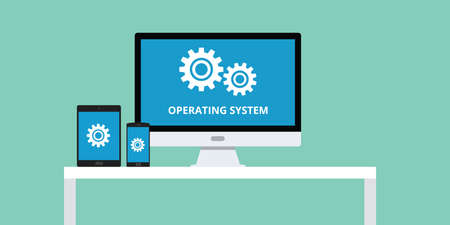 operating system: operating system software cross platform responsive vector