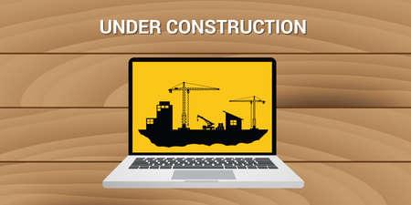 creation of sites: website construction construct under development concept vector