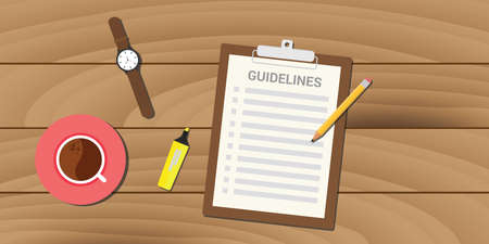 guidelines policy guidance business management clipboard work Иллюстрация