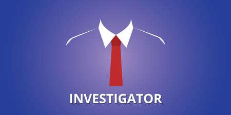 uomo rosso: illustrazione persona indagine investigatore con il concetto vestito vettore