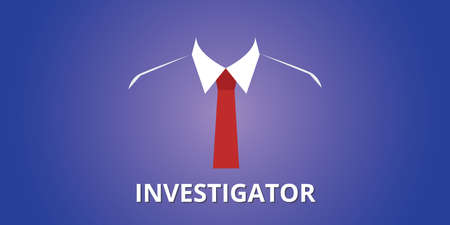 investigator investigation person illustration with suit concept vector