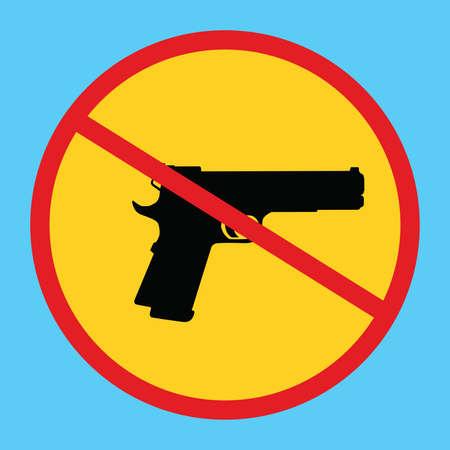 gun control: gun ban forbidden concept icon isolated weapon control vector Illustration