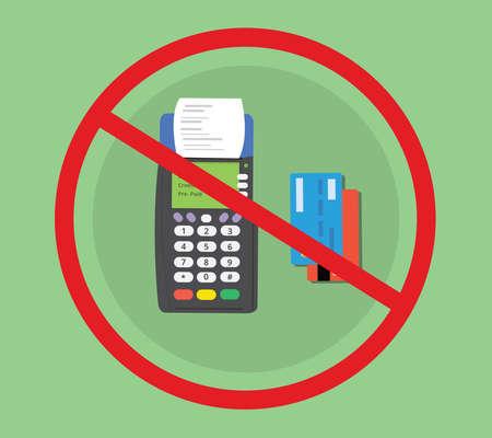 hacked: credit debit card machine hacked concept